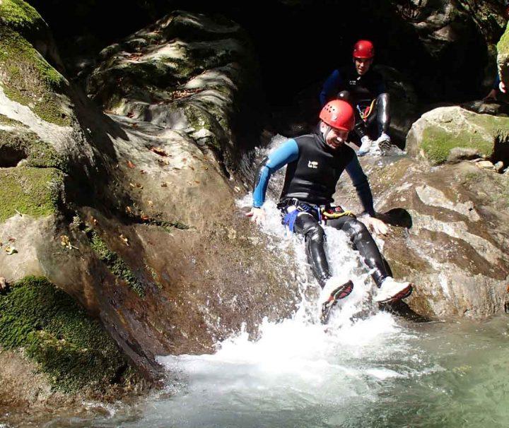 toboggan dans le canyon de Montmin