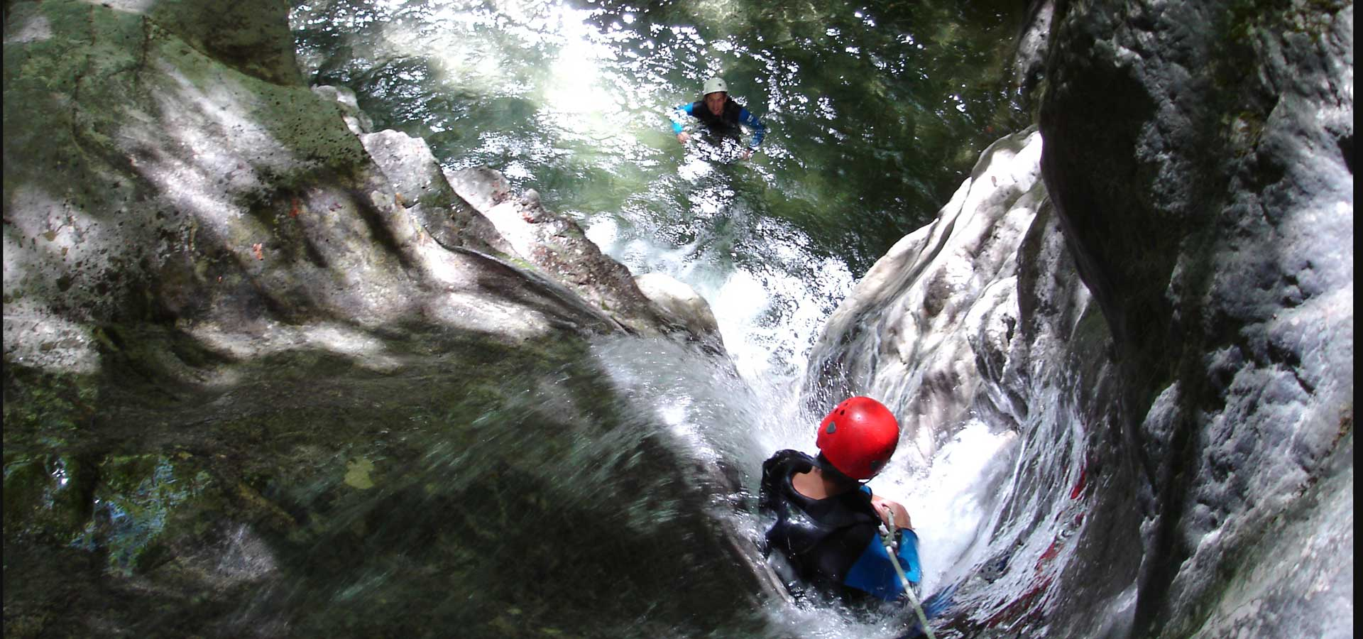 Canyoning à Angon: Version Sport !