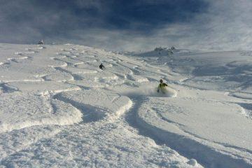 traces ski hors piste meribel