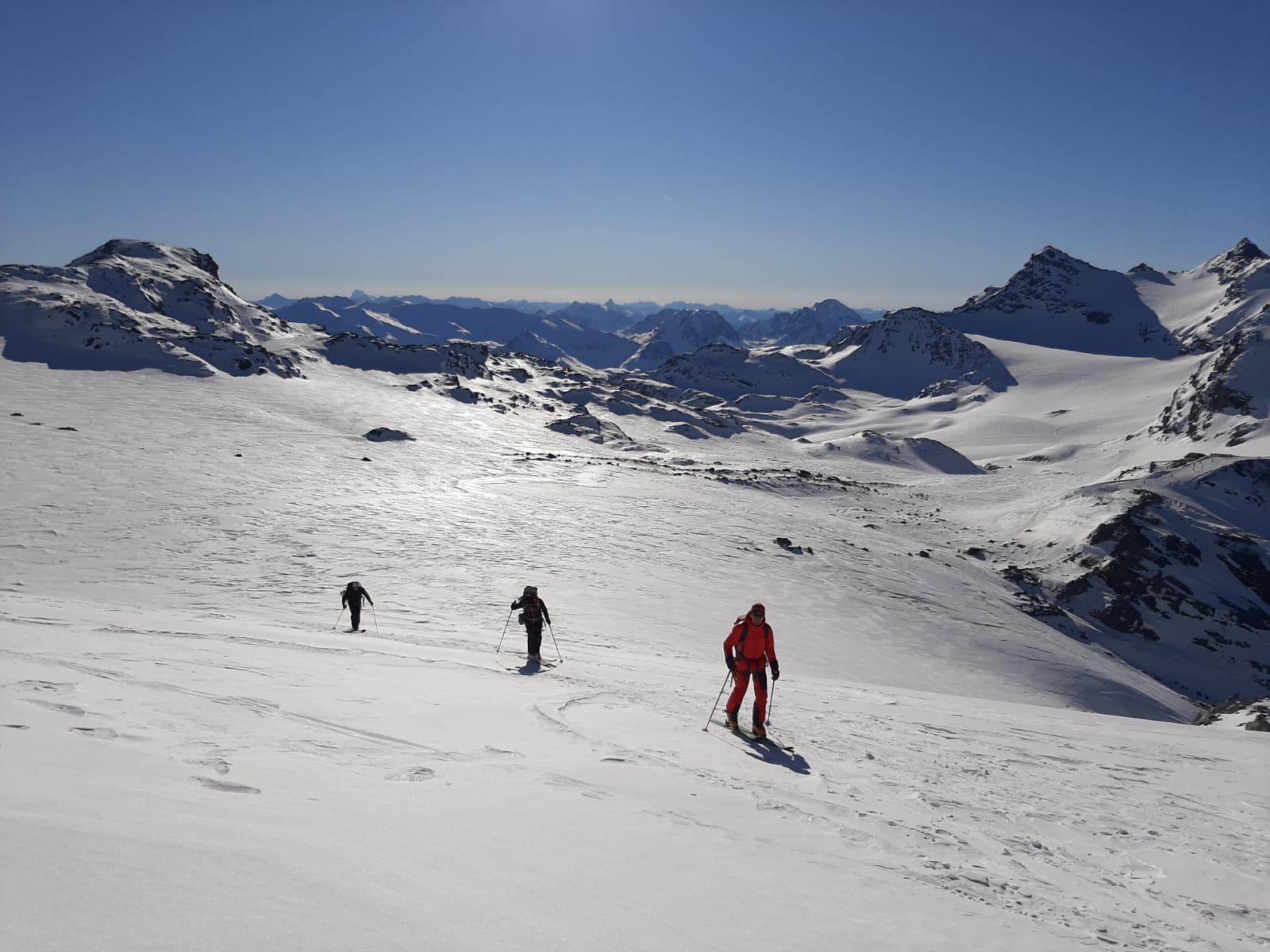 ski de rando sur le glacier de chaviere
