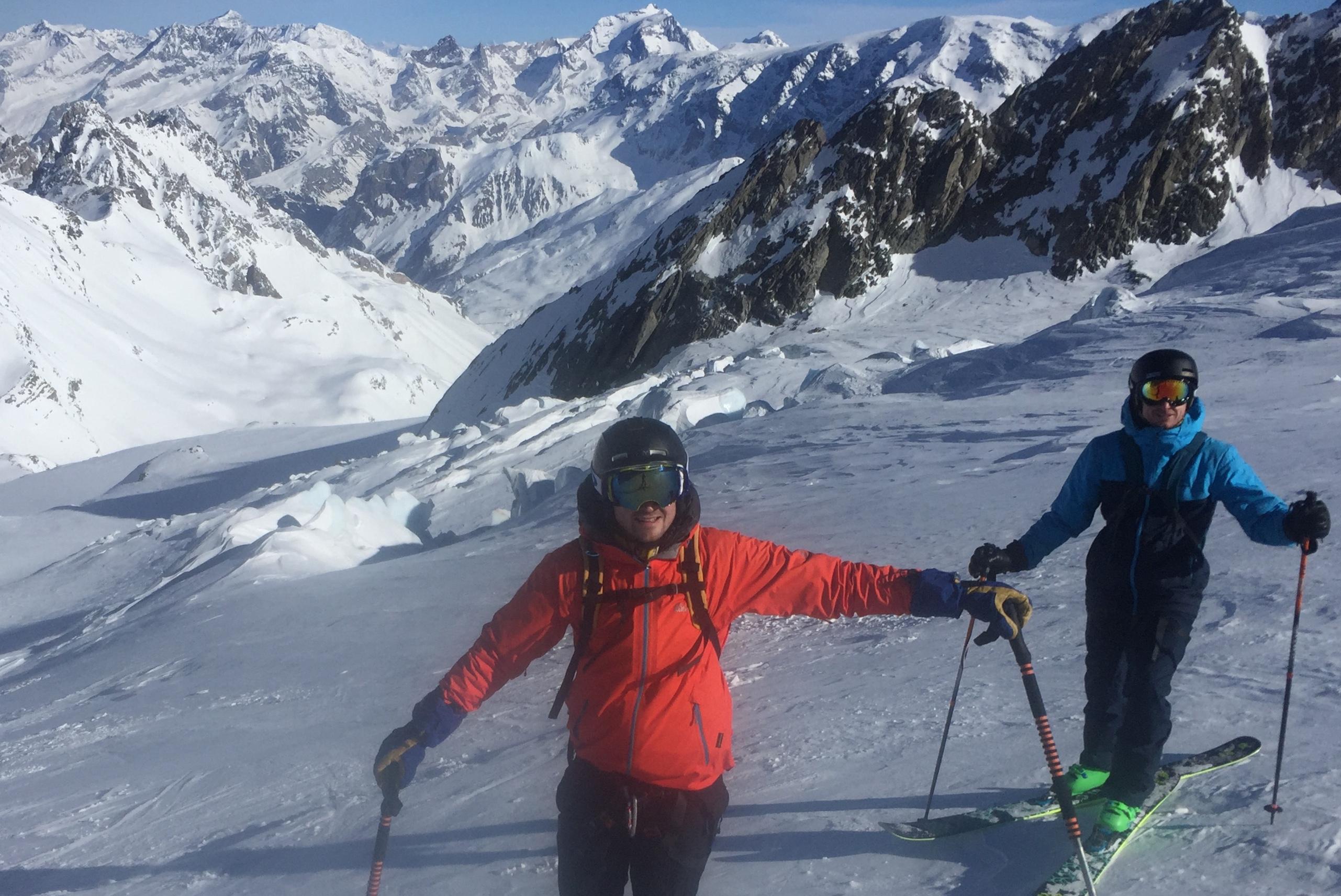 Le Glacier de Gébroulaz en ski de rando